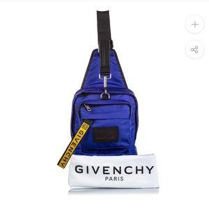 Givenchy Men's Blue Nylon UT3 Crossbody Sling Bag